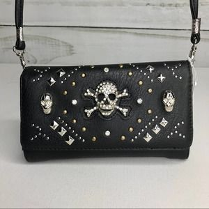 Bougie Booth Western Skull Wallet NWT